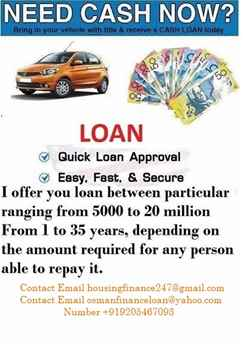 WE OFFER CARS LOAN BUSINESS LOAN URGENT LOAN APPLY NOW
